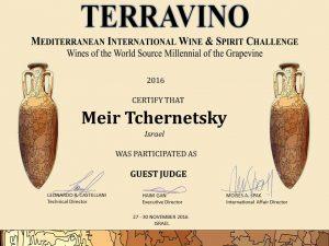 Удостоверение судьи TerraVino