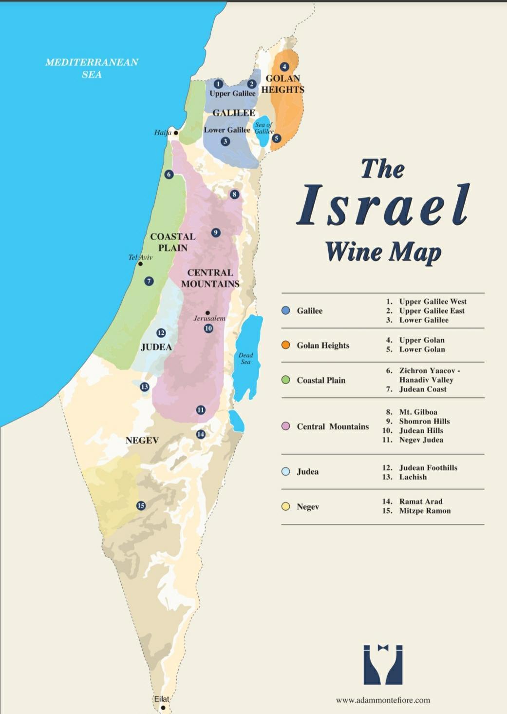 винная карта Израиля
